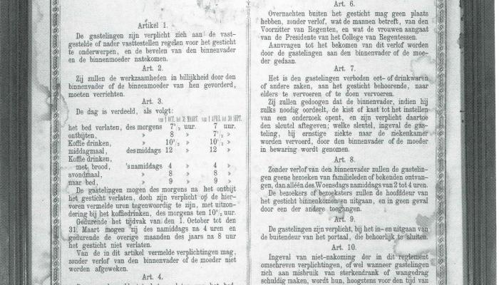 reglement van orde MZ 1885
